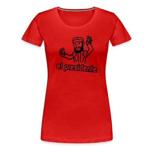 el presidente vorlage - Frauen Premium T-Shirt