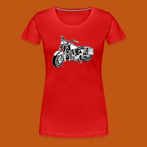 Chopper Motorrad 10_schwarz weiß - Frauen Premium T-Shirt
