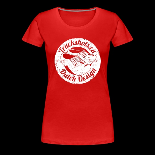 Stamp dutch design with clogs - Women's Premium T-Shirt