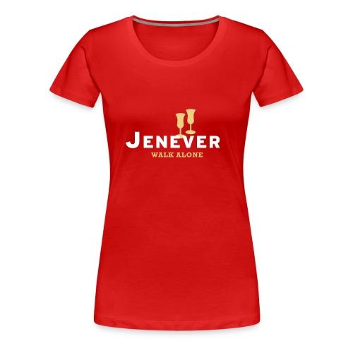 Jenever walk alone - Vrouwen Premium T-shirt
