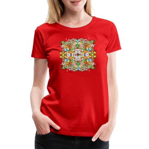 The Christmas crowd is having a great time - Women's Premium T-Shirt