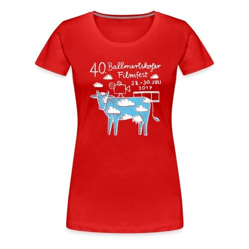 170415 B Filmfest Kuh weisse Schrift png - Frauen Premium T-Shirt