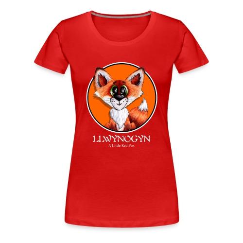 llwynogyn - a little red fox (white) - Naisten premium t-paita