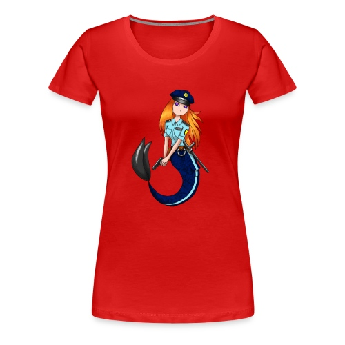 Meerjungfrau Polizistin - Frauen Premium T-Shirt