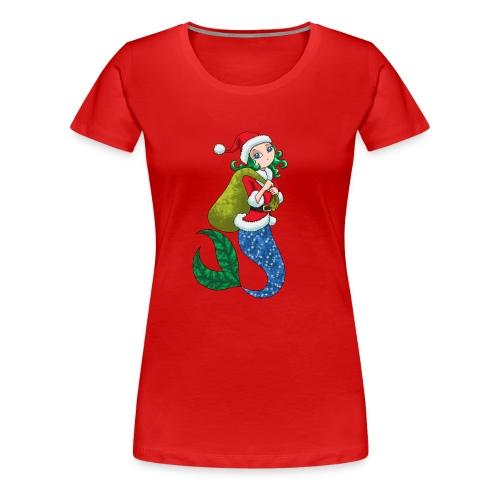 Meerjungfrau Weihnachtsmann Weihnachten Geschenk - Frauen Premium T-Shirt
