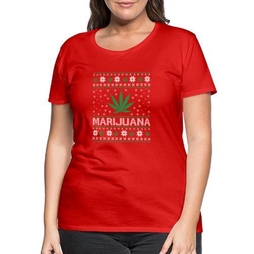 Ugly Christmas Marijuana - Frauen Premium T-Shirt
