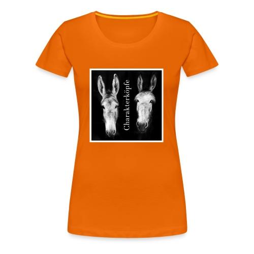 Eselköpfe_Charakterköpfe - Frauen Premium T-Shirt