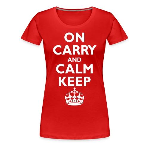 Keep calm upside down - Women's Premium T-Shirt