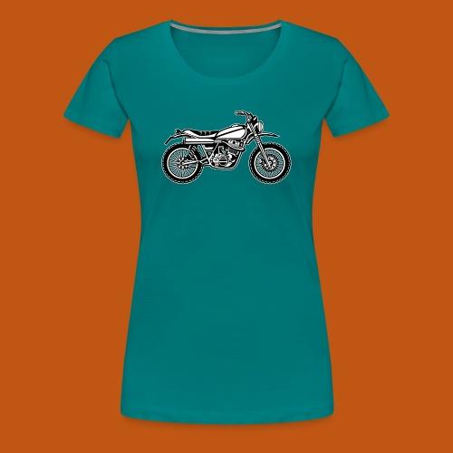Motocross Enduro Motorrad 01_schwarz weiß - Frauen Premium T-Shirt