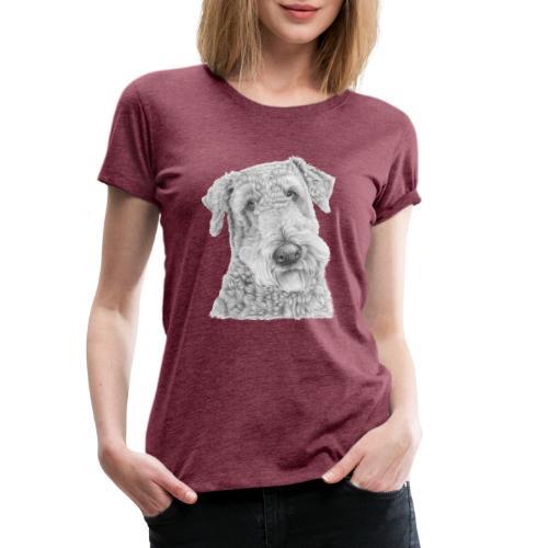 airedale terrier - Dame premium T-shirt