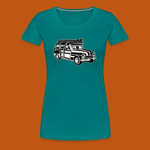 Chevy Cadilac Woodie / Oldtimer Kombi 01_sw - Frauen Premium T-Shirt