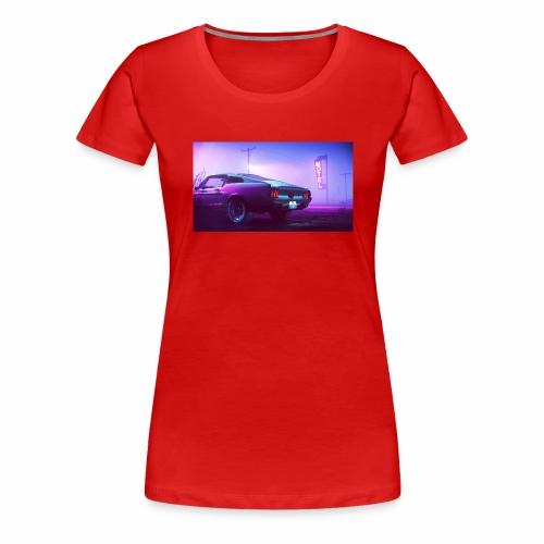 purple scorpion car - Koszulka damska Premium
