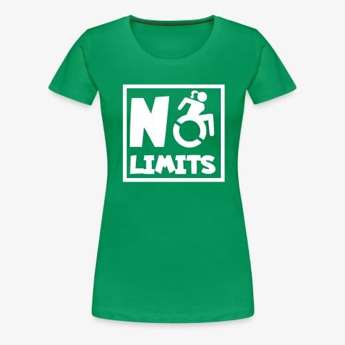 Geen grenzen voor deze dame in rolstoel - Vrouwen Premium T-shirt