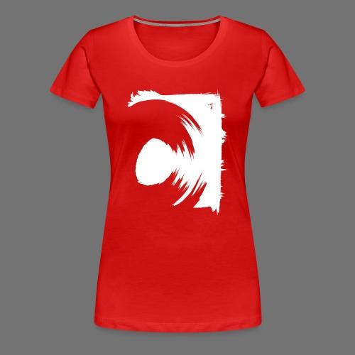 spin (valkoinen) - Naisten premium t-paita