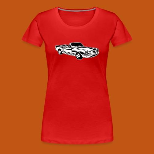Cabrio / Muscle Car 02_schwarz weiß - Frauen Premium T-Shirt