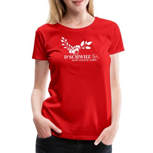 SCHWEIZER BLUME T-SHIRT, SCHWEIZER WAPPEN - Frauen Premium T-Shirt