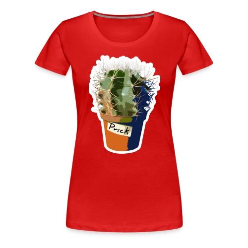 Prick m. outline - Dame premium T-shirt