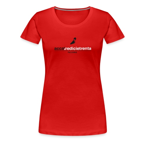 Accatredicietrenta Red line - Maglietta Premium da donna