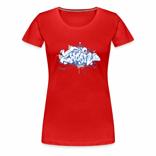 Dae 2Wear graffiti style ver01 blue edt - Dame premium T-shirt