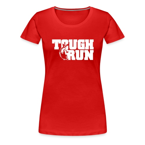 TOUGRUN Logo weiß - Frauen Premium T-Shirt