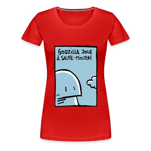 Godzilla Saute-mouton - Women's Premium T-Shirt