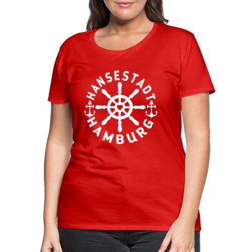 Hamburger Steuerrad - Frauen Premium T-Shirt