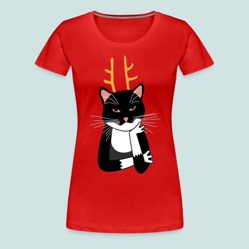 Sarcastic Christmas Cat - Women's Premium T-Shirt