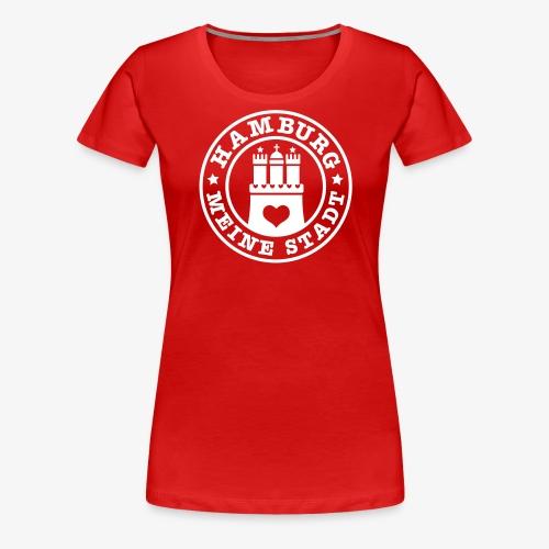 HAMBURG MEINE STADT Wappen 1c - Frauen Premium T-Shirt
