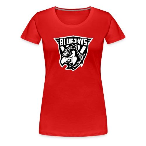 BLUEJAYS Logo schwarz / weiß - Frauen Premium T-Shirt