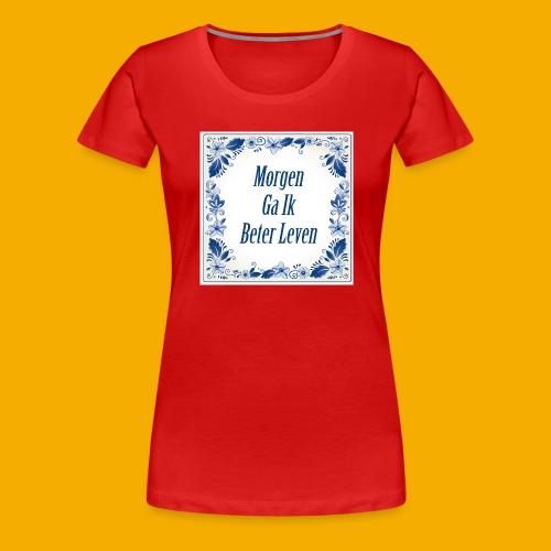 delft blauw - Vrouwen Premium T-shirt