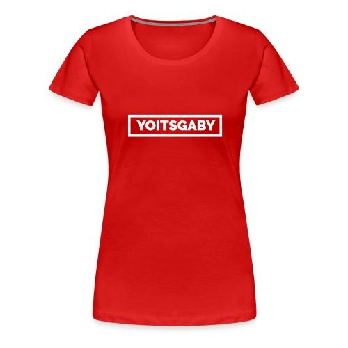 YoIsGaby T-Shirt Wit // man - Vrouwen Premium T-shirt
