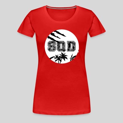 SQD tshirt logo wit - Vrouwen Premium T-shirt