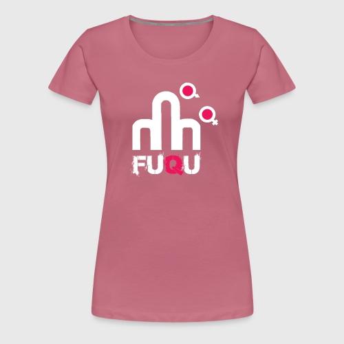 T-shirt FUQU logo colore bianco - Maglietta Premium da donna