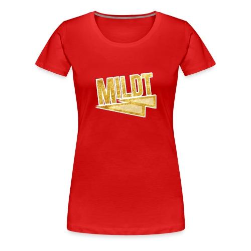 MILDT Gouden Vrouwen Shirt - Vrouwen Premium T-shirt