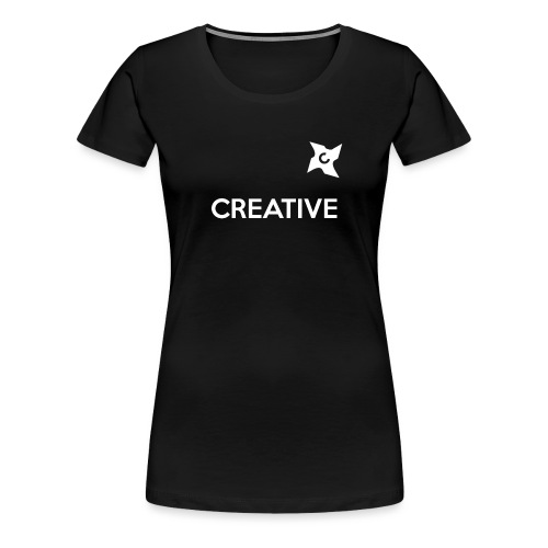Creative simple black and white shirt - Dame premium T-shirt