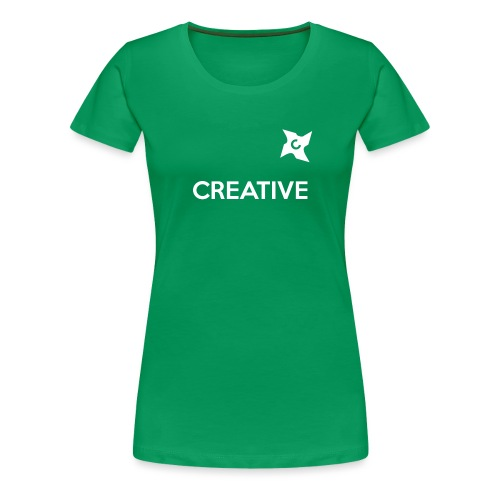 Creative simple black and white shirt - Dame premium T-shirt