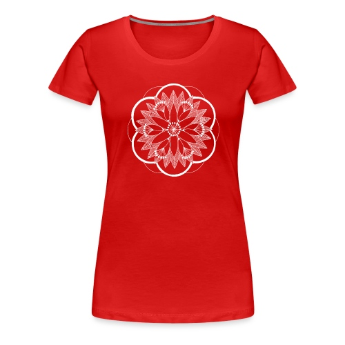 White Pond Bouquet Mandala - Women's Premium T-Shirt