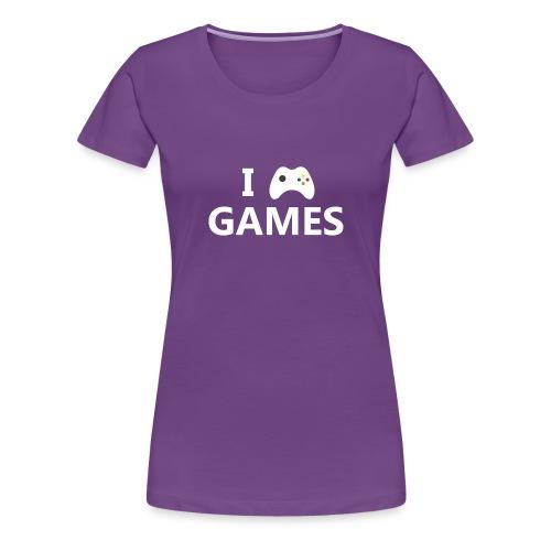 I Love Games 2 - Camiseta premium mujer