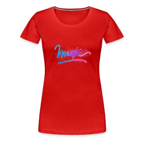 Music Lettering - Camiseta premium mujer