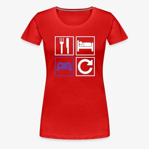 Eat, Sleep, Game, Repeat - Women's Premium T-Shirt