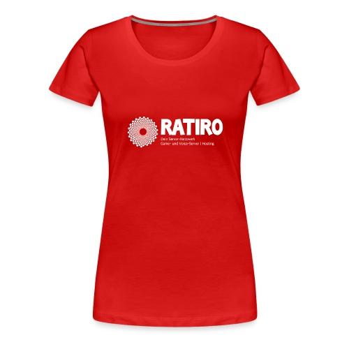 4 Logo Weiss - Frauen Premium T-Shirt