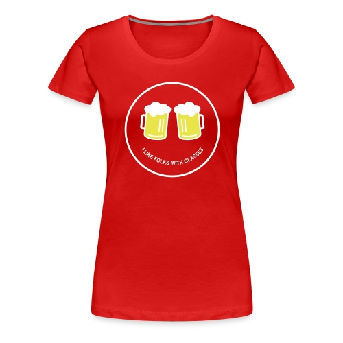 Bier Smiley – Oktoberfest – Bierzelt – Aprèski - Frauen Premium T-Shirt