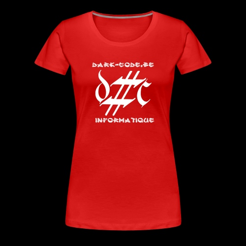Dark-Code Gothic Logo - T-shirt Premium Femme