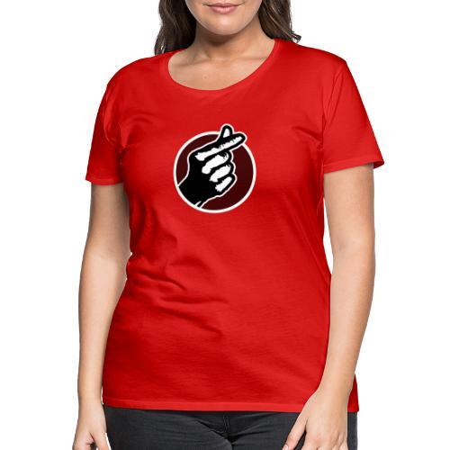 Koreaans Vingerhartje - Vrouwen Premium T-shirt