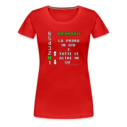 prima in giu e le altre in su gioflu bianco - Maglietta Premium da donna