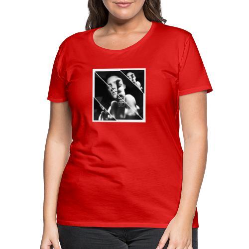 FU striped - Premium-T-shirt dam