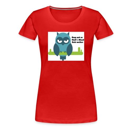 Eule - Frauen Premium T-Shirt