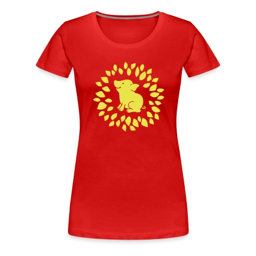 Schwein im Glück - Frauen Premium T-Shirt