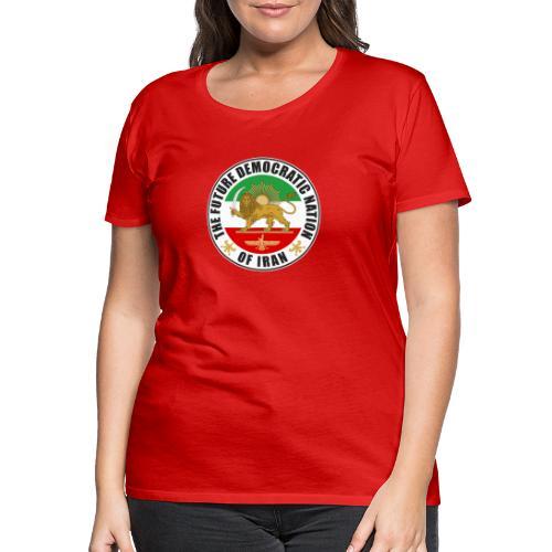 Iran Emblem Old Flag With Lion - Women's Premium T-Shirt