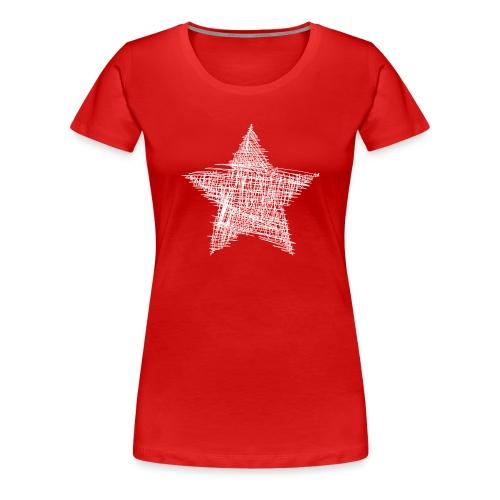 Estrella blanca - Camiseta premium mujer